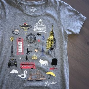 J Crew London Destination Gray Collector Tee